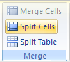 Then click the Split Cells button