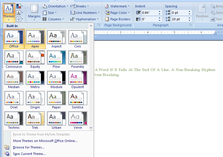microsoft word theme download