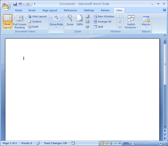 Word 2007 view modes : Document View « Editing « Microsoft Office