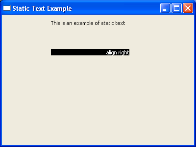 Align text to right