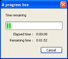 A progress box