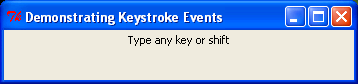 Binding keys to keyboard events.