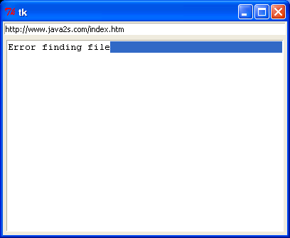 Displays the contents of a file from a Web server in a browser.