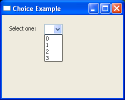 List of choices