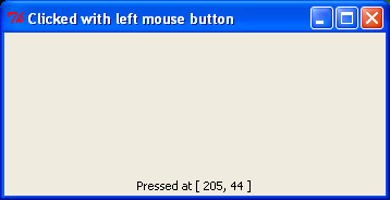 Mouse button differentiation.