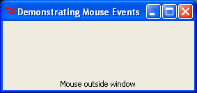 Mouse events example.