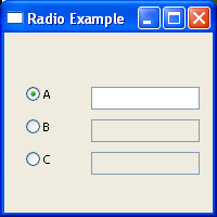 RadioButton and text control