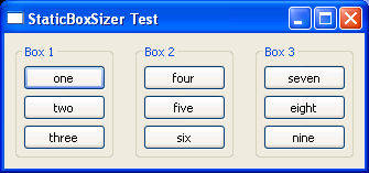 StaticBoxSizer Test