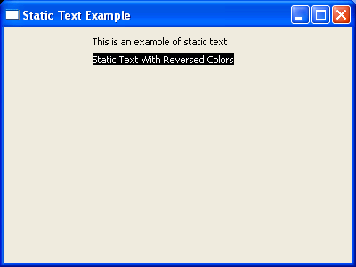 StaticText background color