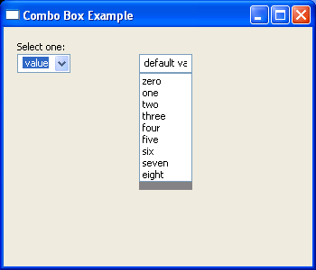 Two comboboxes