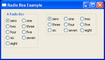 Use RadioBox