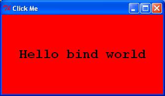 bind actions: key pressed