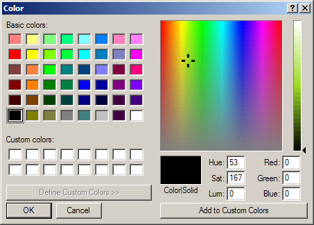 Set Control's foreground color