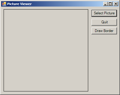 Draw on PictureBox border