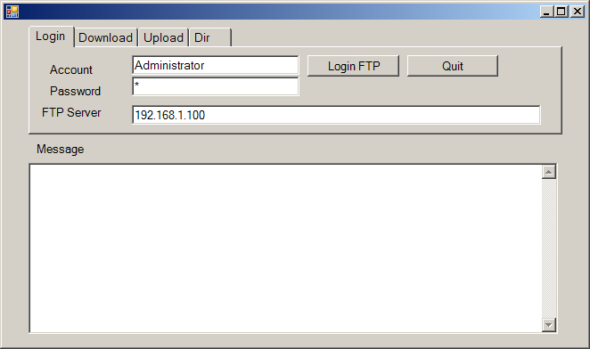 Perform ftp using the internet transfer control from vb.