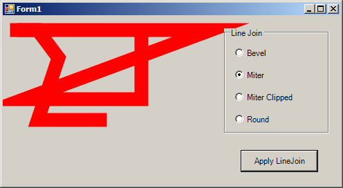 Use RadioButton to control the LineCap