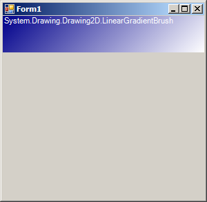 Create a LinearGradientBrush