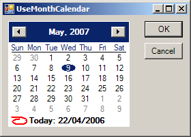 Add Bolded Date for MonthCalendar