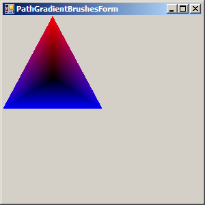 Triangular PathGradientBrush