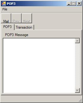POP3 form