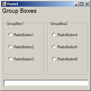 RadioButtons in a GroupBox