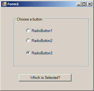 Get selected RadioButton
