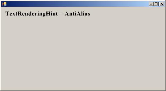 TextRenderingHint.AntiAlias