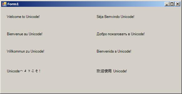 UI with UniCode