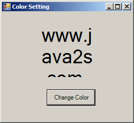 Use Color dialog to set the Label foreground color