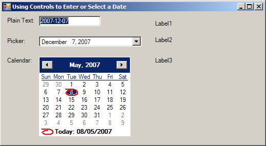 Get value from DateTimePicker