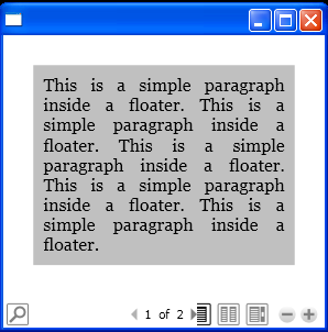 WPF A Paragraph Inside A Floater