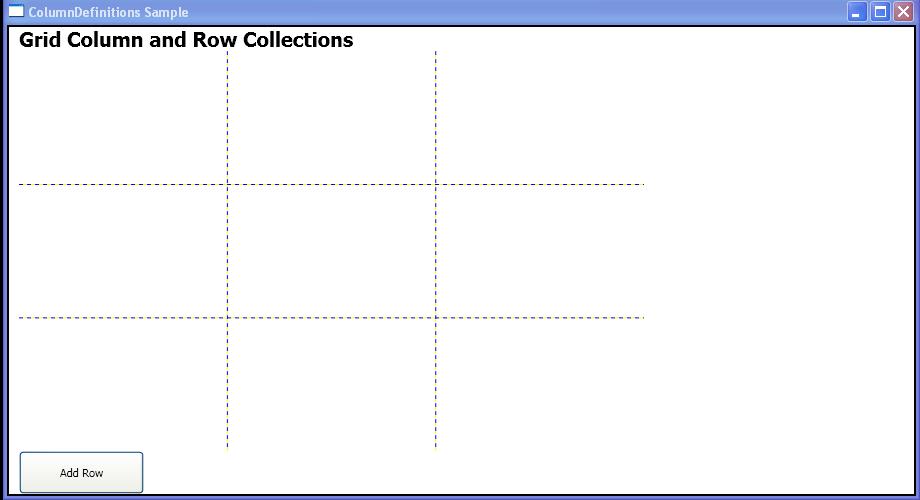 Add a RowDefinition to Grid