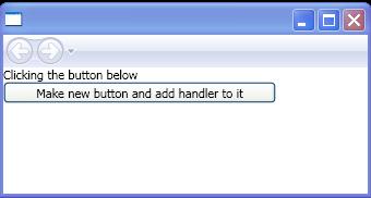 Add an event handler to an element using code
