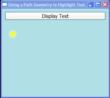 WPF An Animated Ellipse Traces The Outline Of Rendered Text By Using The Path Geometry Of The Text