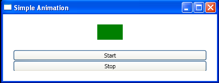 Associating the clicking of each button with a stack of XAML that starts or stops the animation