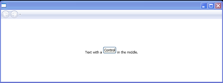 WPF Automatic Inline U I Container Generation Text Along With Button