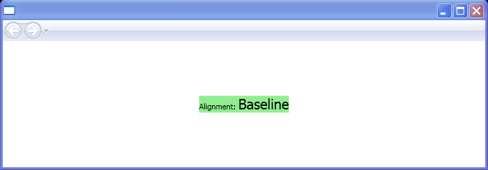 WPF Baseline Alignment Baseline