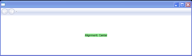 WPF Baseline Alignment Center
