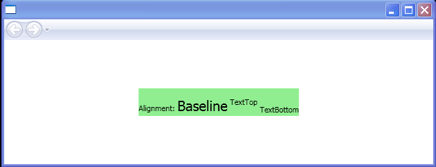 BaselineAlignment: TextBottom