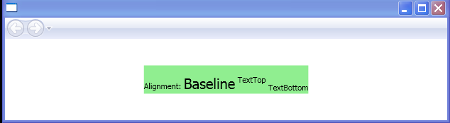 BaselineAlignment: TextTop