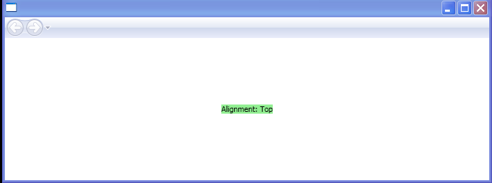WPF Baseline Alignment Top