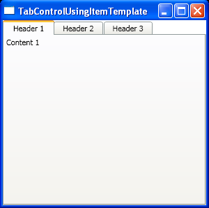 Bind a TabControl to a data source : TabControl « Windows