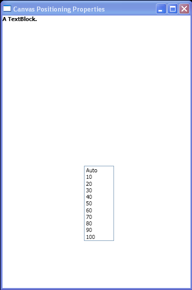 WPF Canvas Positioning Properties Sample