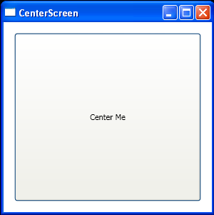 Center a Window to Screen