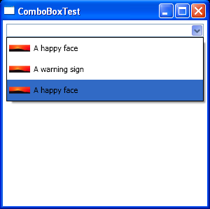 WPF Combo Box Test