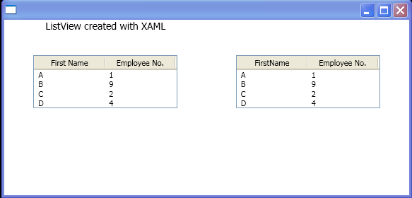 WPF Create A List View Control That Uses A Grid View View Mode To Display The Contents Of An Observable Collection Of T