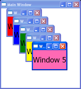 Create Window and add window closing event handler
