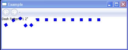 Dash Pattern '1 2'