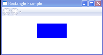 WPF Draws A100 By50 Rectangle With A Solid Blue Fill