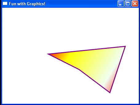 Draws polygon with LinearGradientBrush